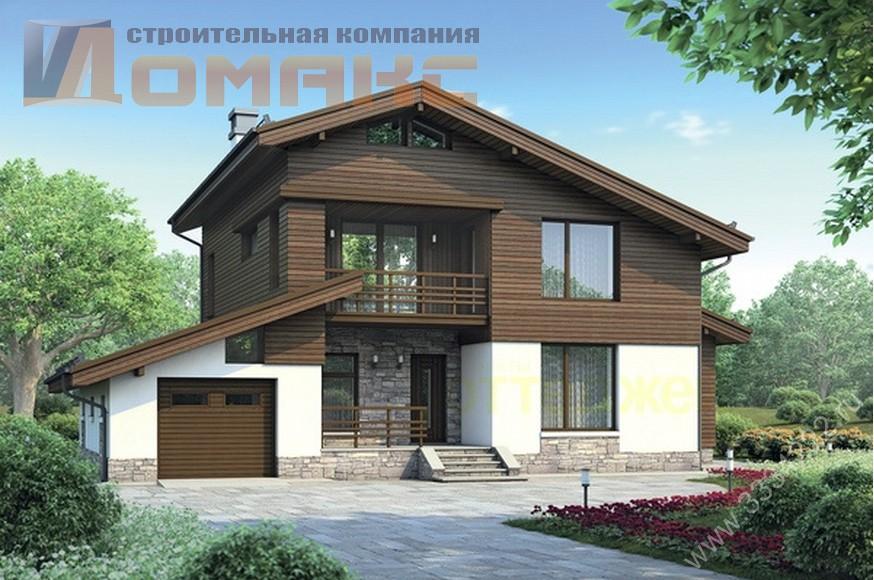 Проект 18554. Коттедж из газобетона, S=221 м2 c ценой постройки