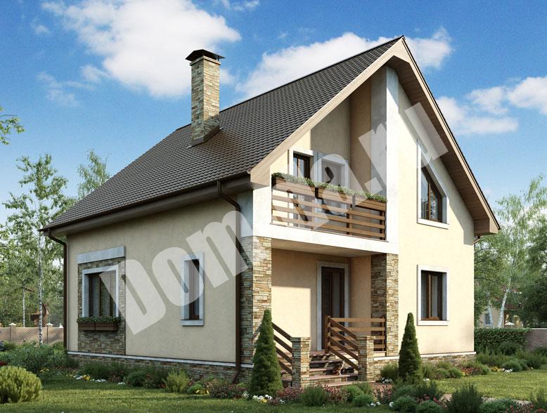 Проект 19007. Загородный дом из пеноблоков, проект c ценой постройки